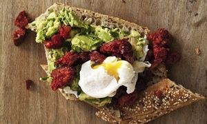 Nigel Slater's poached eggs with chorizo and avocado | Life and style | The Guardian