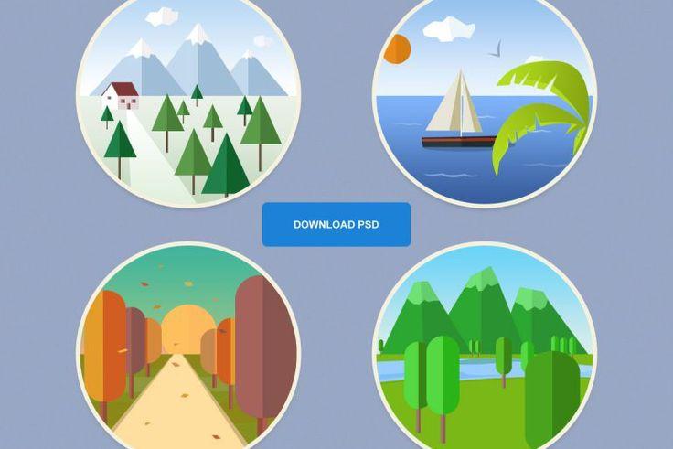 Free Icon Set: 4 Seasons