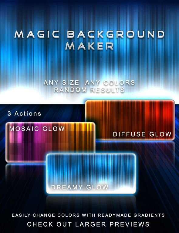 Magic Background Maker — Photoshop ATN #background #background generator • Available here → https://graphicriver.net/item/magic-background-maker/145132?ref=pxcr