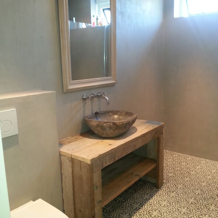 25 beste idee235n over beton badkamer op pinterest