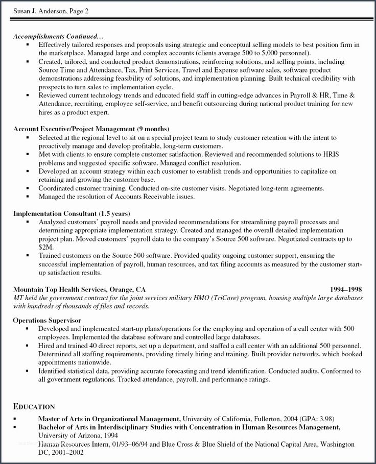 Awesomefree detail examples of project management resumes
