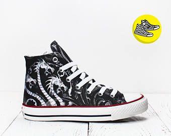 Targaryen Game Of Thrones custom made converse shoes dragons sneakers