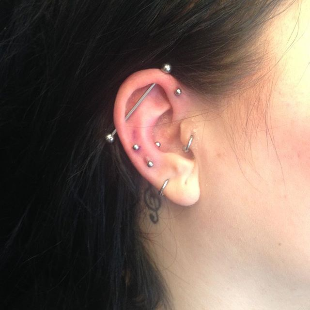 Just A Typical Ear Queen Of Piercings Mrssallyvandally Piercing