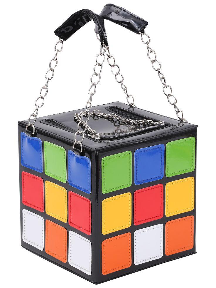 Shop Faux Patent Rubik's Cube Handbag online. SheIn offers Faux Patent Rubik's Cube Handbag & more to fit your fashionable needs.