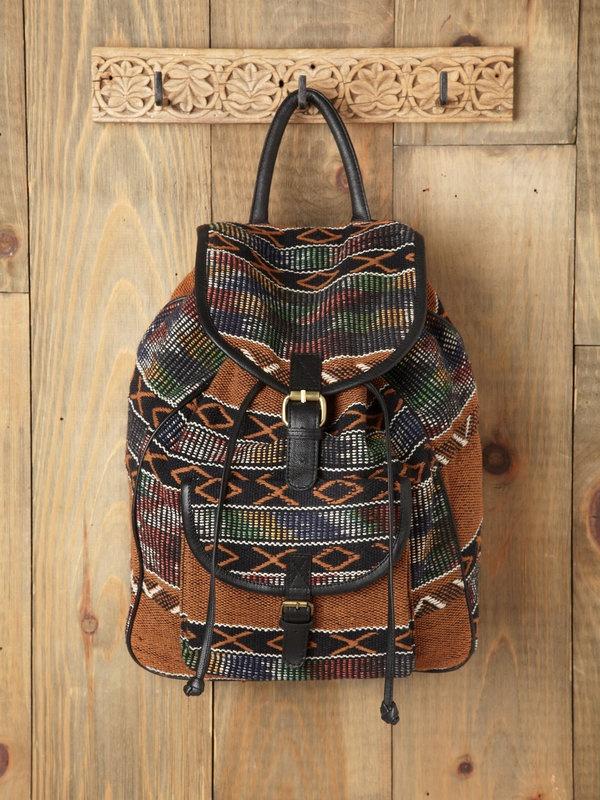 7 Chi Sari Pattern Backpack