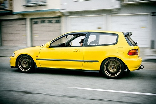 Honda Civic Yellow Import