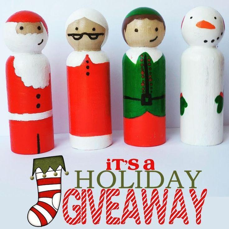 DIY Peg Doll Giveaway - Christmas Peg Doll kit.