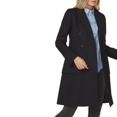 Dorothy Perkins Navy pea coat | Debenhams