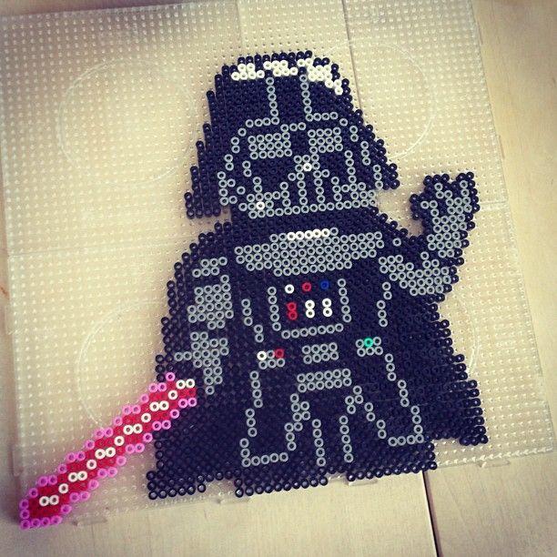 Darth Vader Star Wars perler beads by annasthlm