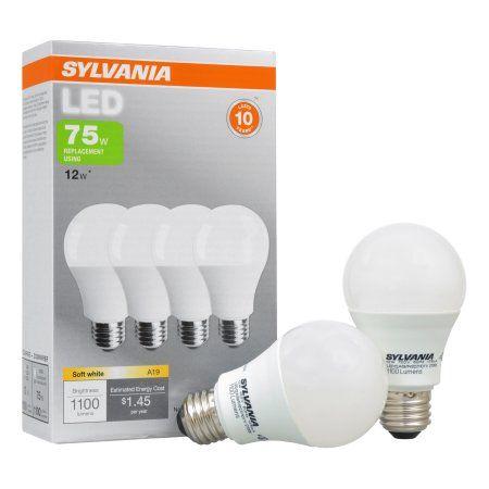 Sylvania LED Light Bulbs, 12W (75W Equivalent), Soft White, 4-count