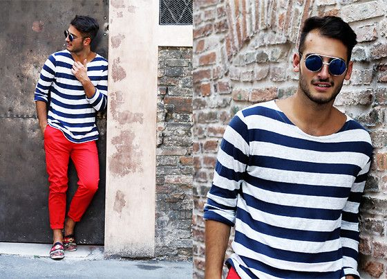 0109 #lookbook [NOTE: He is so GAY. No bright-colored pants for men! That's for me to wear. You wear a dark-burgundy.]