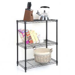 3 Tier Wire Shelf - Black