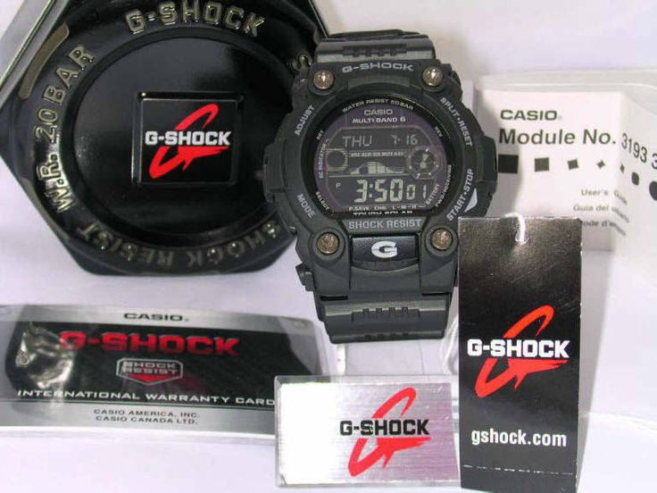 Casio G Shock Watch GW7900B 1 Tide/Moon Solar Atomic Timekeeping Mens #GShock #Sport