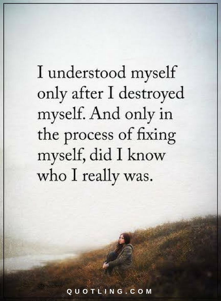 Be Yourself Quotes I Understood Myself Only After I Destroyed Myself Magnificent Quotes Myself