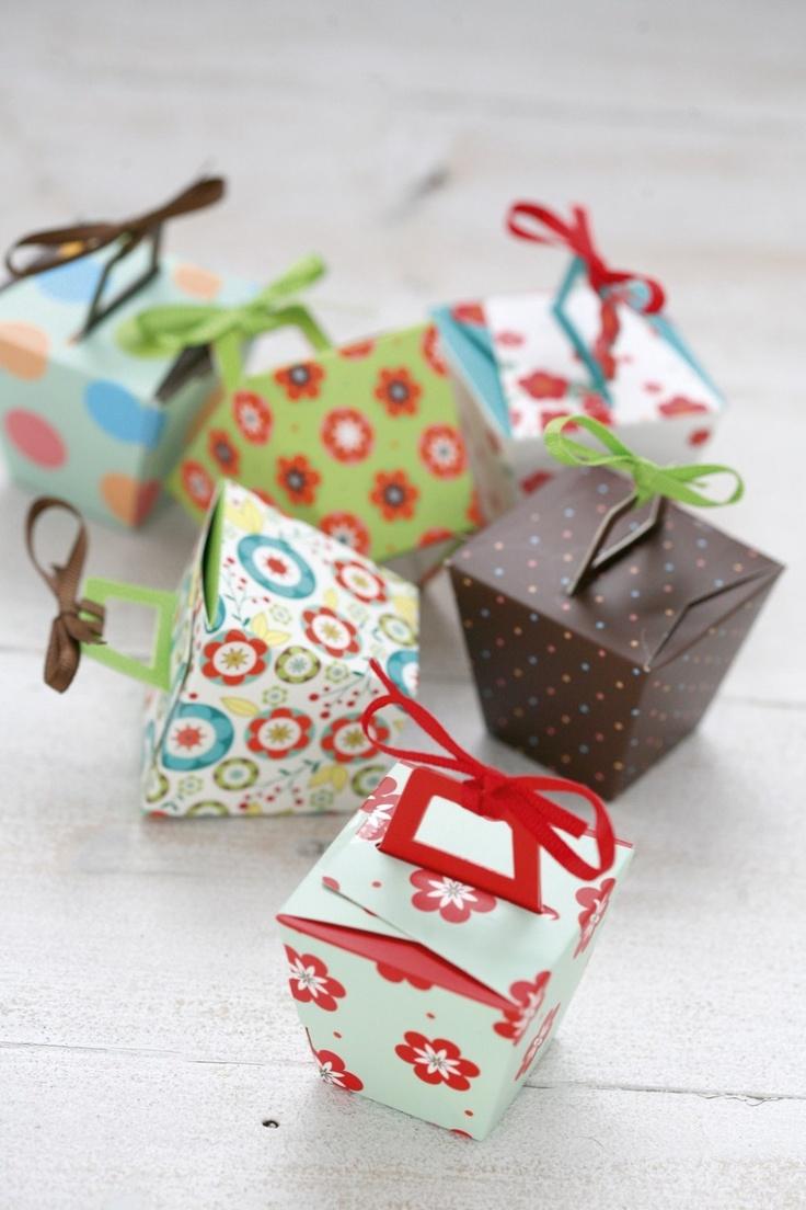 Paper panettone/take away mini gift boxes | Lemon Paper Designs