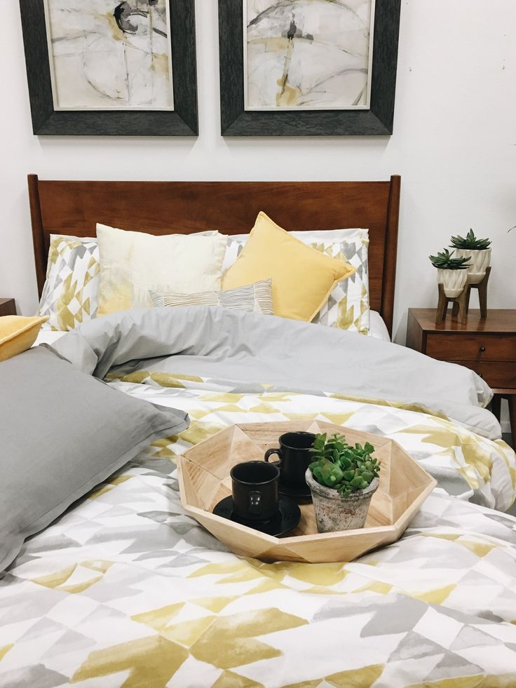 Midtown Mid Century Bedroom | American Home #midcentury