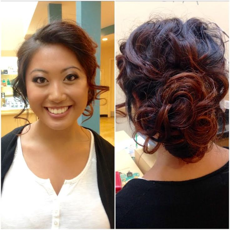 An amazingly beautiful updo crafted by Marcie here at Changes City Spa