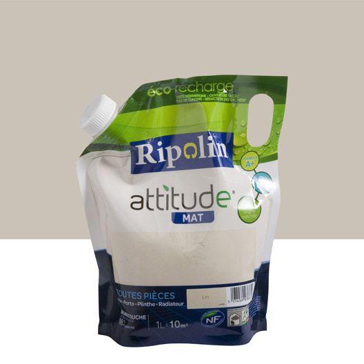 Peinture Attitude mat RIPOLIN, lin, 1 L  Cuisine  Pinterest  Ps