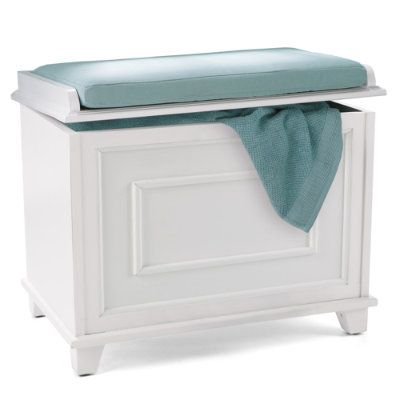 Springfield storage bench with cushion grandin road Storage bench with cushion