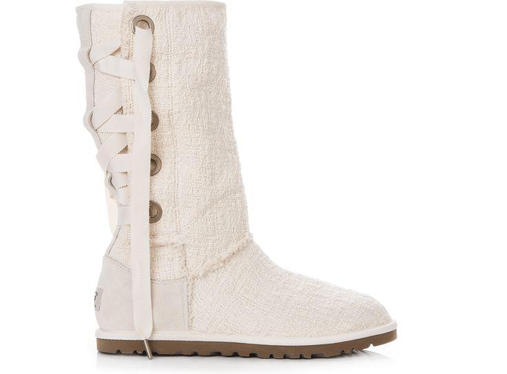 Αυτή την ευκαιρία δεν πρέπει να την χάσεις:UGG AUSTRALIA - Γυναικείες μπότες Ugg Australia εκρού στην μοναδική τιμή των...