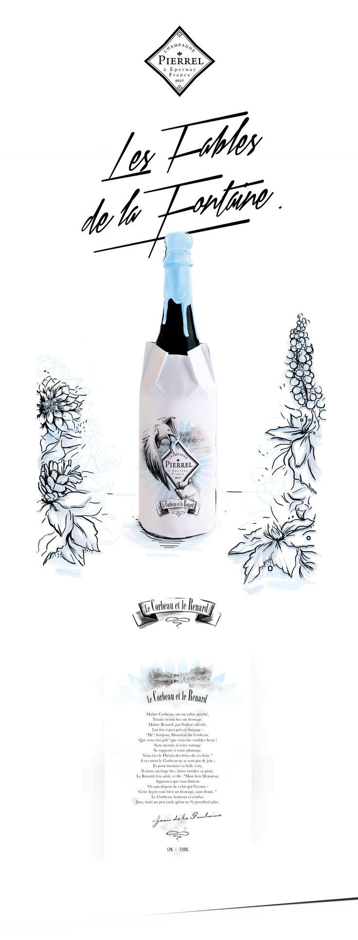 Découvrez mon projet @Behance: «Champagne Pierrel, les Fables de la…