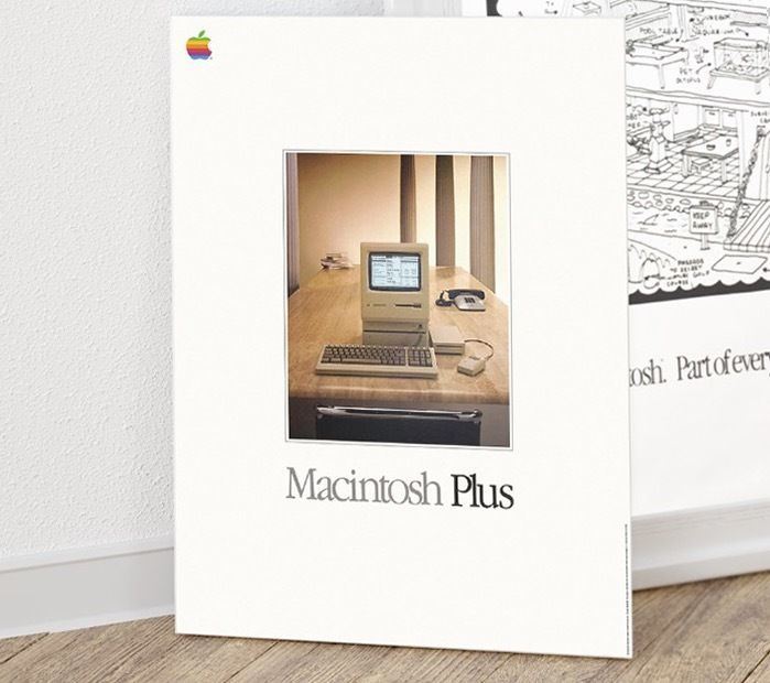 it originally had the same generally beige colored case as the original macintosh