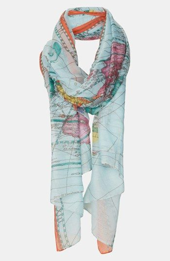 need this Topshop Map Print Scarf | Nordstrom