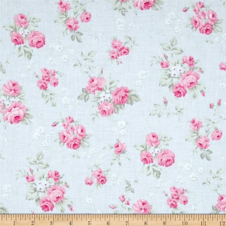 Tanya Whelan Slipper Roses Wild Roses Blue from @fabricdotcom Designed by Tanya Whelan for Free Spirit, this cotton print is perfect for quilting, apparel and home decor accents. Colors include white, light blue, shades of pink and shades of green.