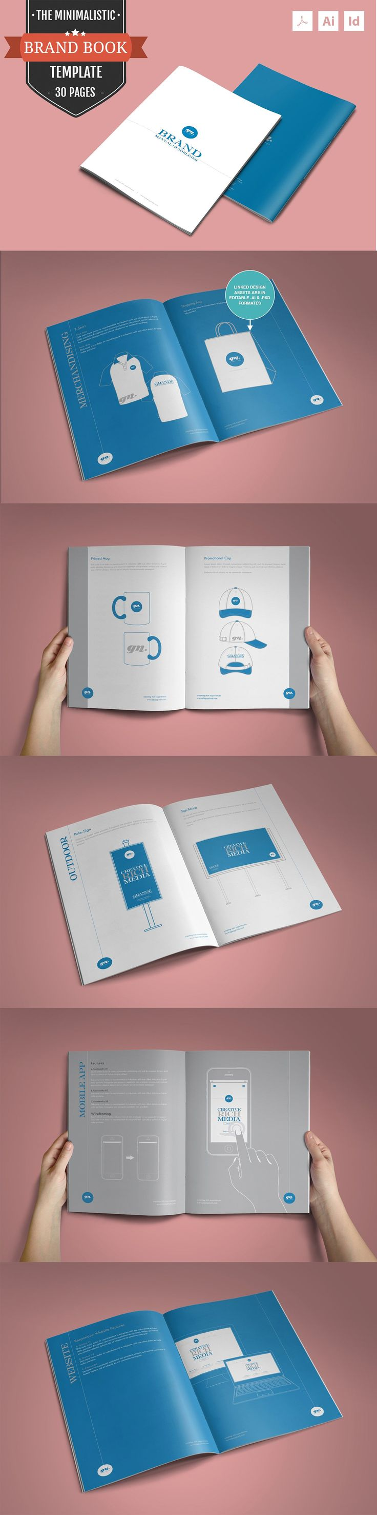 The Minimalistic – Brand Guidelines Template PDF