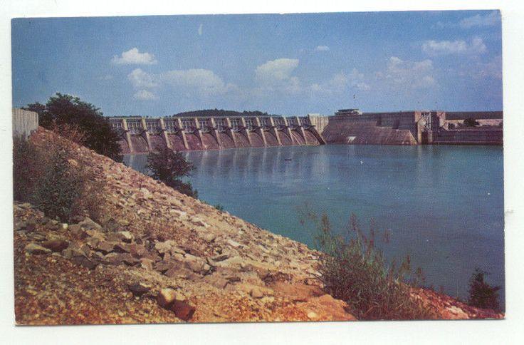Fort Louden Dam near Knoxville TN Postcard Tennessee