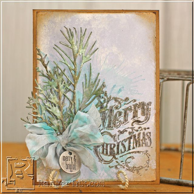 Tammy Tutterow Tutorial: Shimmery Holiday Card with Alcohol Inks