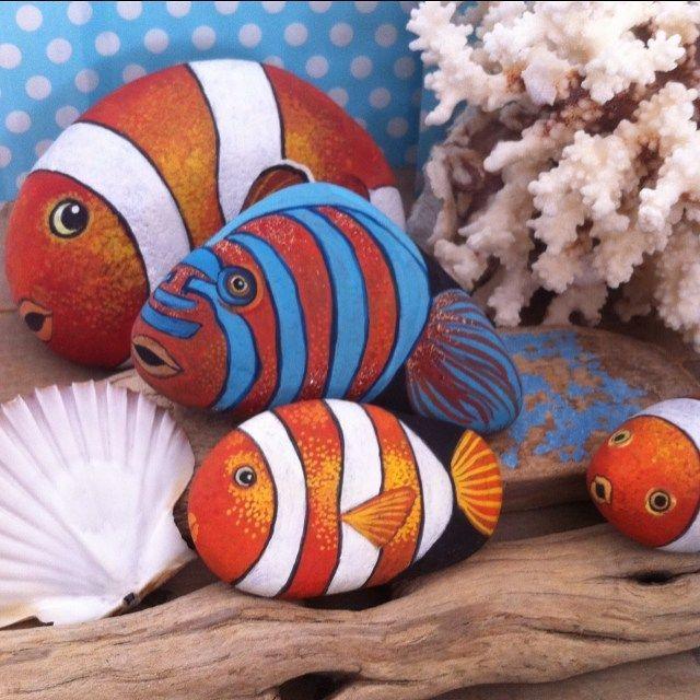 #balık #fish #taşboyama #stonepaint #colors #design #elyapımı #handmade #artist #instaartist #instagood #instalike #likeforlike #photoday #dekoratifboyama #creative #underwater #yaz #summer #hediye #gift #balkon #decoration #artwork
