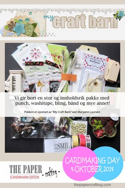 CARDMAKING DAY 4. OKTOBER: VI GIR BORT EN STOR SCRAPPEPAKKE! | The Paper Crafting