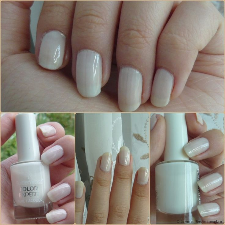 2014: Cheap Jelly White Nail Polish Golden Rose Color Expert 01
