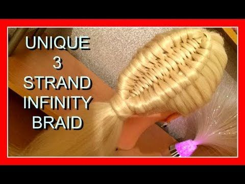 UNIQUE 3 STRAND INFINITY BRAID HAIRSTYLE / HairGlamour Styles / Braids Hair Tutorial - YouTube
