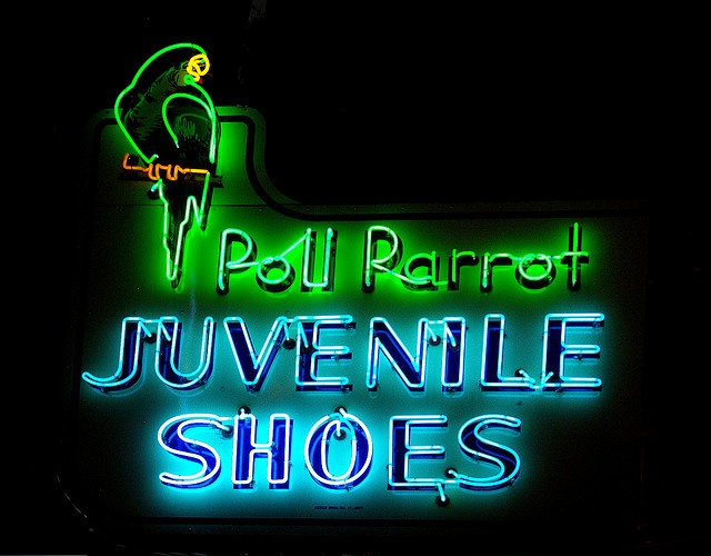 vintage neon signs in Las Vegas.