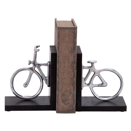 capricious steampunk bookends. Two bicycle bookends  Product Set of 2 bookendsConstruction Material Aluminum Color Black 24 best decoration images on Pinterest Magnifying glass Cubicle