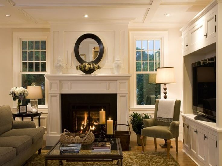 Living Room Decor With Fireplace best 25+ fireplace between windows ideas only on pinterest