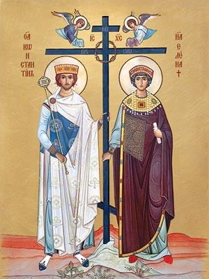 Sts. Helena & Constantine - Helena, found the True Cross, and her son The Emperor Constantine