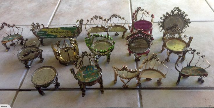 Miniature furniture made from tin cans | Trade Me