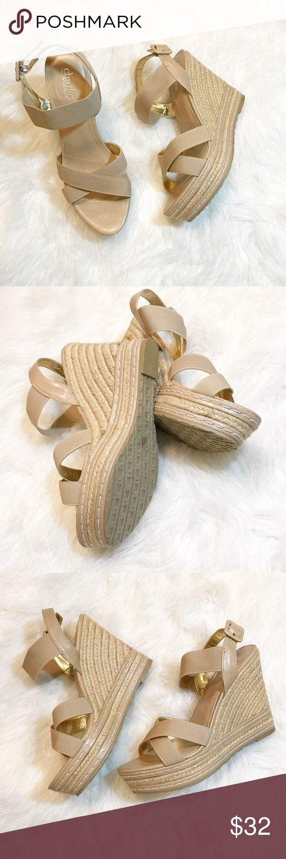 Charles by Charles David Wedge heels Gorgeous tan wedges by Charles by Charles David. Like new condition, bottoms of these shoes look new!!! Very comfortable and versatile shoe! Size 8. No trades, offers welcom. Charles David Shoes Wedges
