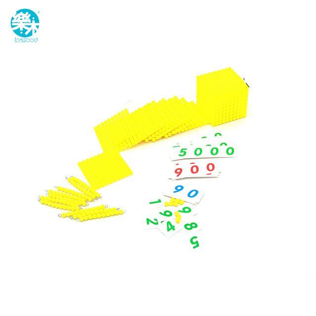 Montessori Speelgoed Baby decimale base Bank Game Set Maths Training voor Vroeg Leren Educatief Voorschoolse Brinquedos Juguets