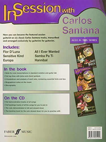 In Session with Carlos Santana: Guitar TAB, Book & CD (Faber Edition: In Session)