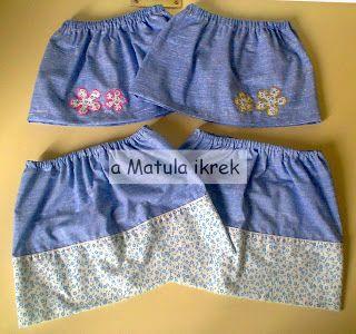 a Matula ikrek blogja (avagy... Mit varrnak a Matula ikrek?) - skirt series for twins