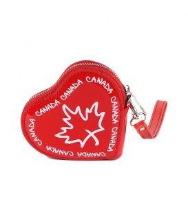 Red Canada Heart Coin Purse