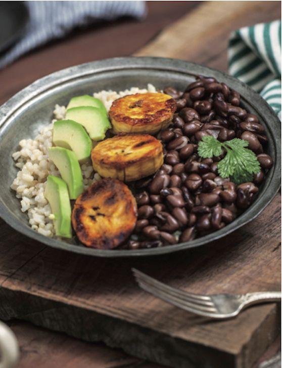 vegan cuban brown rice bowl with sweet plantains recipe   vegkitchen.com