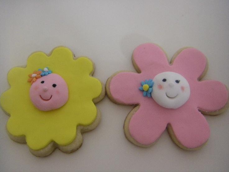 Tarta Chic: Galletas flores. (Tartas fondant, galletas y cupcakes Sevilla)