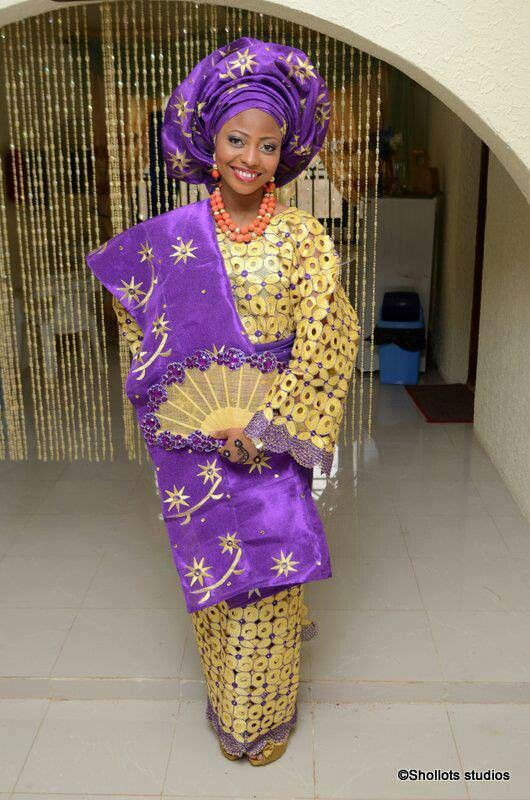 Purple and yellow! | Nigerian/West African Wedding ideas ...