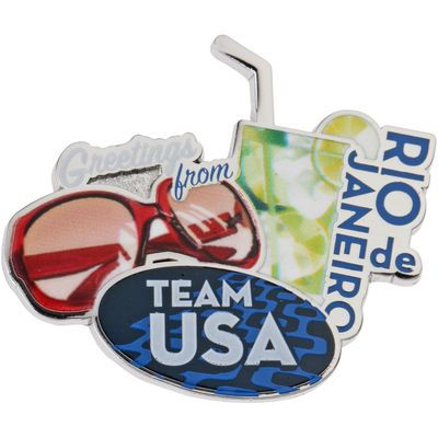 2016 Rio Olympics Team USA Drinks and Glasses Collectible Pin