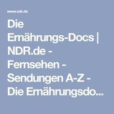 Die Ernährungs-Docs | NDR.de - Fernsehen - Sendungen A-Z - Die Ernährungsdocs